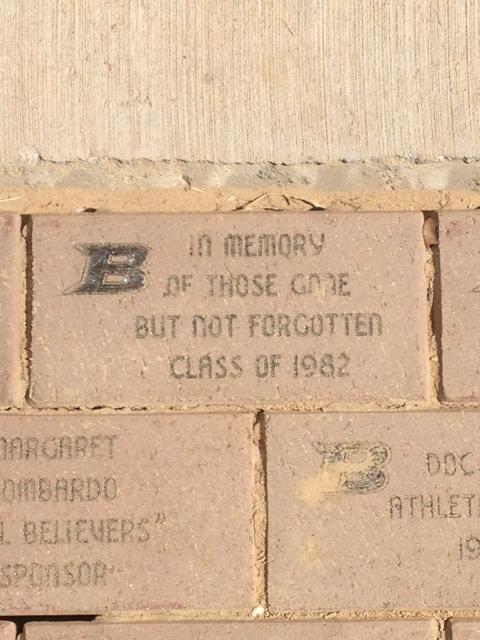 Class of 82 brick